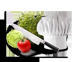 image de découpe de légumes
