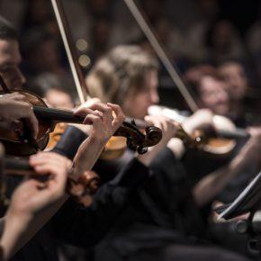 Musiciens jouant du violon